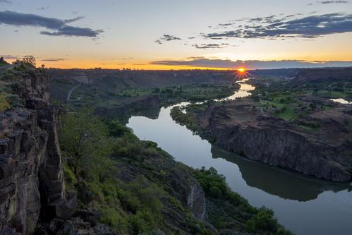 idaho snakeriver snakerivercanyon twinfalls sunset unitedstates us