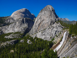 Nevada Fall, Liberty Cap, Mt Broderick | by snackronym