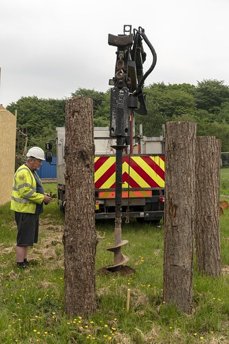 Openreach drill holes for Masts