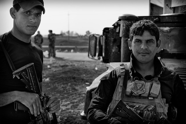 Members of the Golden Division who fought against ISIS in Mosul