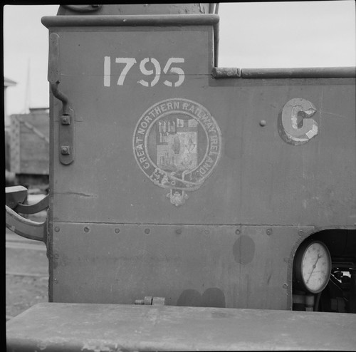 jamespo'dea o'deaphotographiccollection nationallibraryofireland gnr greatnorthernrailway crest engine loco railways ireland 1795 too merryweather logo greatnorthernrailwayireland gnri gauge inchicore inchicoreworks firetender