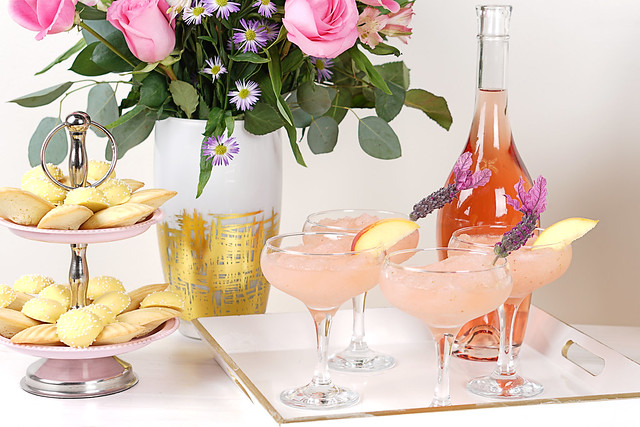 Frosé Serving Tray and Snacks