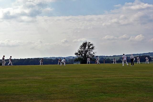 Cricket on Broadhalfpenny Down