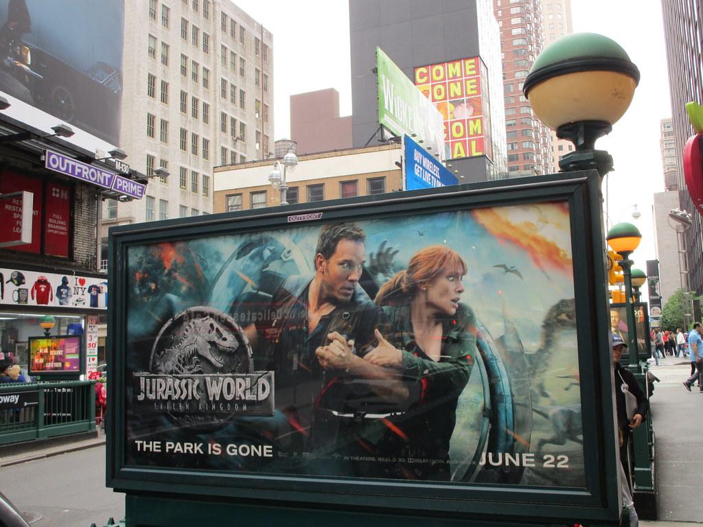 Jurassic World Fallen Kingdom Subway Entrance Billboard 32
