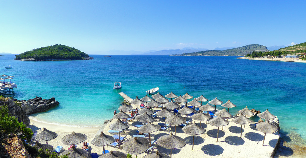 Astonishing Ksamil Beach Albanian Riviera Albania Buy This Photo On Home Interior And Landscaping Palasignezvosmurscom
