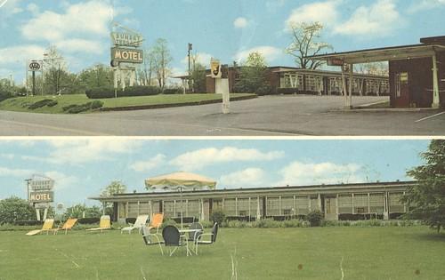westvirginia motel vintage postcard