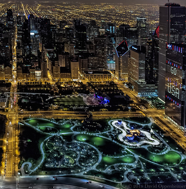 Maggie Daley Park in Chicago Aerial Photo