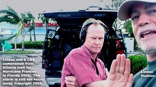 NETWORK TV NEWS CREW AT HURRICANE   by lindenhud1