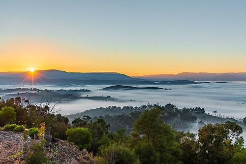 sunrise fog morning yarraglen