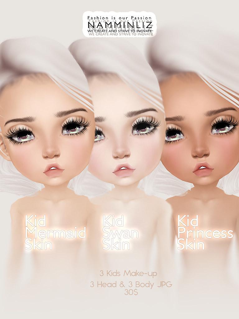 Kid Skin & Make-up ( Swan, Mermaid, Princess )JPG (6*  CHK…   Flickr
