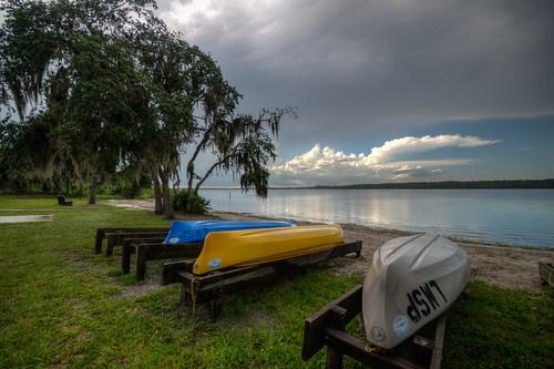 lakemanatee statepark manateecounty florida fl fla kayak boat landscape water storm