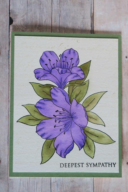Magenta Azalea Sympathy Card