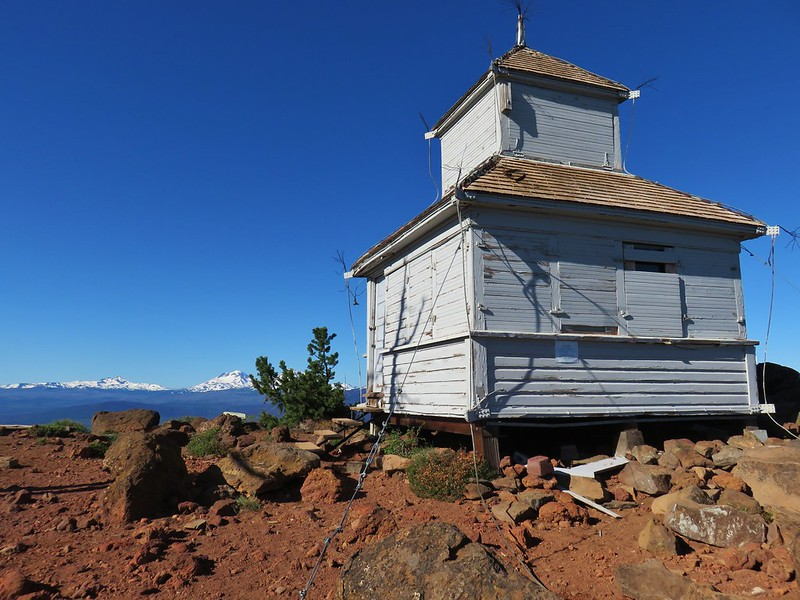 Cupola style lookout on Black Butte