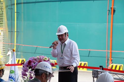 圖06莊理事長出席107年度油銷部緊急應變演習並致詞(1070329)