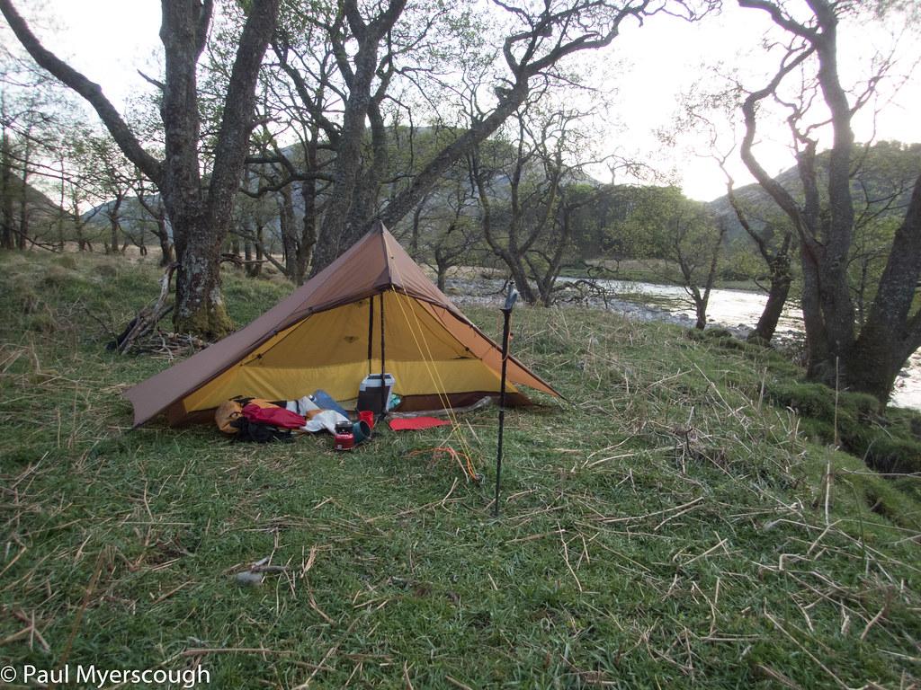 Riverside camp Glen Etive