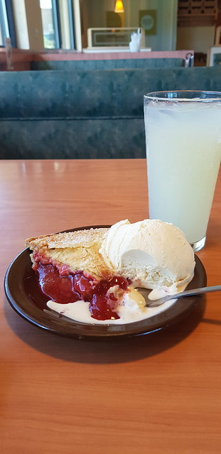 Thu, 05/31/2018 - 15:02 - Perfect end of day snack - rhubarb pie and vanilla ice cream with lemonade