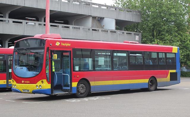 Trustybus / Galleon Travel . Roydon , Essex . NK53UNW . Harlow Bus Station , Essex . Thursday 07th-June-2018 .