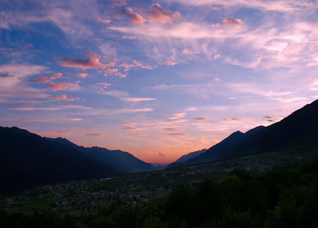 Tramonto in Media Valtellina