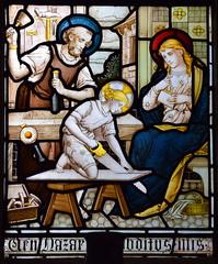 Christ in the carpenter's workshop (Isaac Alexander Gibbs, 1880s)