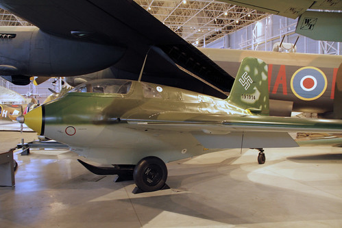 Messerschmitt Me-163 Komet at the CASM, Ottawa