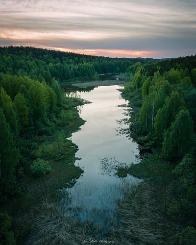 jyväskylä centralfinland finland suomi mavic pro drone aerial photography landscape nature lake reflections summer trees forest clouds sunset europe amazing world kortesuo dji fc220