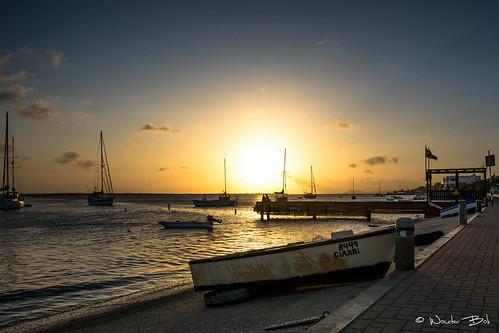 bonaire sunset nikon d7100 sigma island pier boulevard water caribbean holland islands abc kralendijk netherlands antilles bes dutch kleine antillen