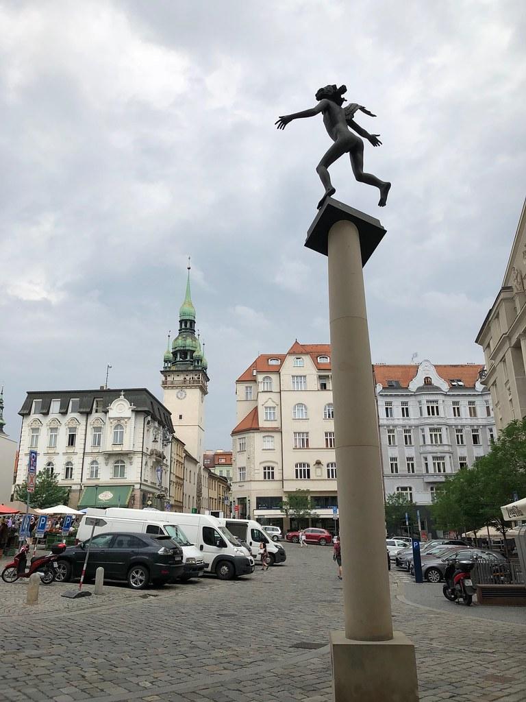 Estatua de Mozart en Brno