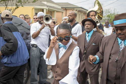 Single Men second line - March 18, 2018. Photo by Jamell Tate.