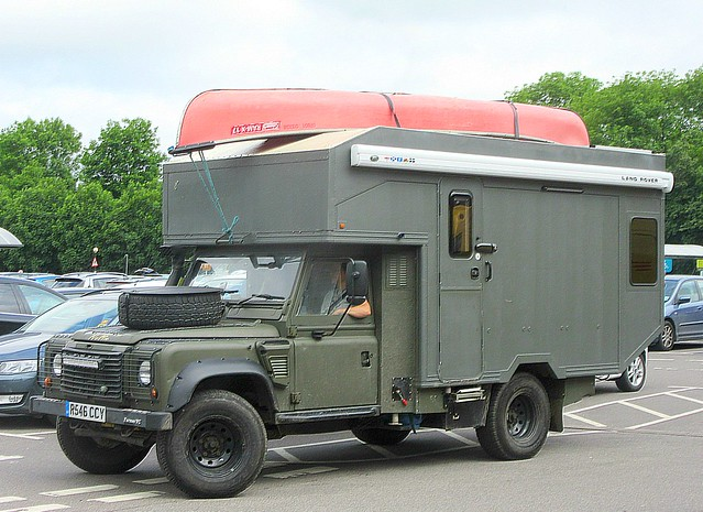 a much modified Ex Army Land Rover Ambulance - Motorhome ..*
