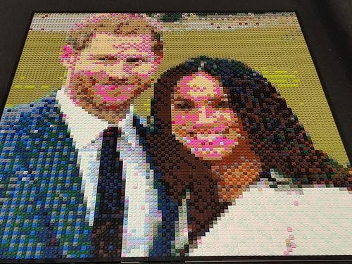 Princ Harry & Meghan Markle Mosaic | by Bfenz