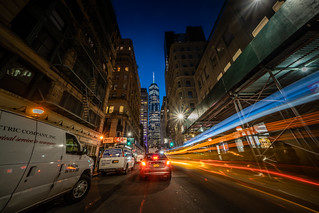 Light Trail to Freedom Tower | by ShutterRunner