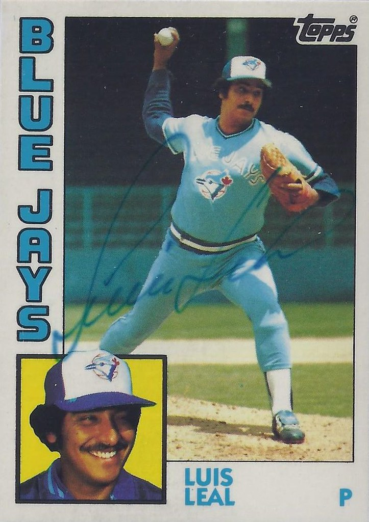 1984 Topps Tiffany Luis Leal 783 Pitcher Autograp Flickr