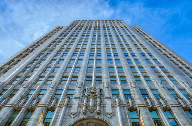 Pacific Telephone Building, 140 New Montgomery, San Francisco, HDR, 11 April 2018