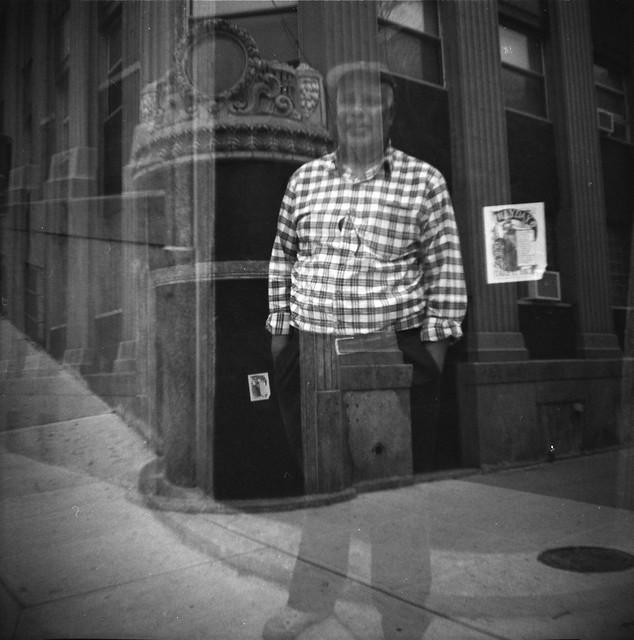 East Village neighborhood man and old bank