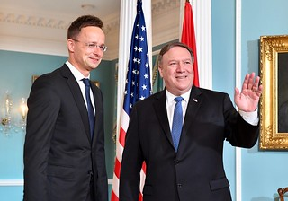 Secretary Pompeo Welcomes Hungarian Foreign Minister Szijjarto to Washington | by U.S. Department of State