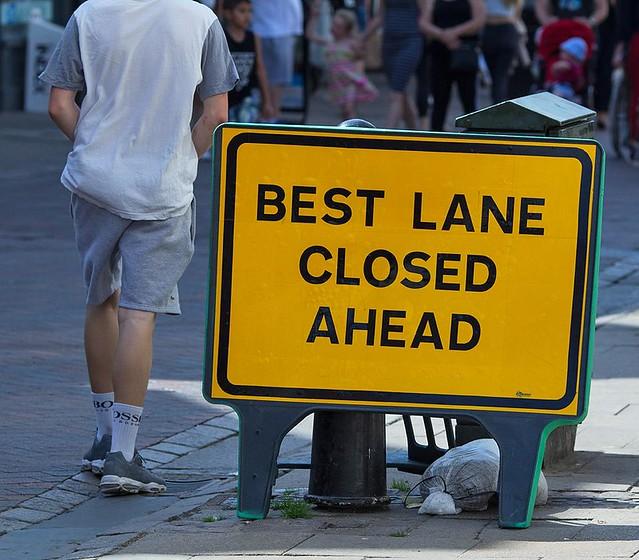 Best Lane Closed Ahead