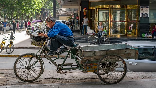 Taking a break in Xi'an