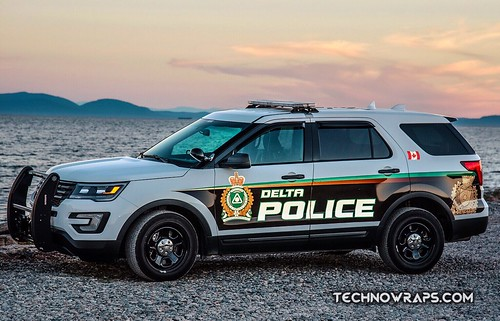 Vinyl police vehicle wrap designed by TechnoSigns in Orlando
