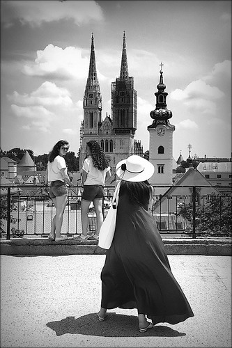 gornjigrad sky clouds walk zagreb zagrebcathedral cathedral zagrebačkakatedrala croatia girls spire spires church churches kaptol hat stmaryatdolac svetamarijanadolcu