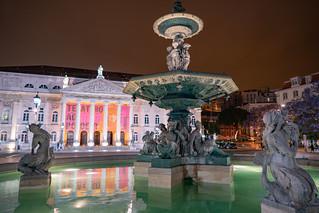 Teatro Nacional D. Maria II from Rossio Square | by nan palmero