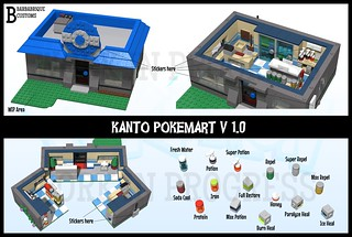 Kanto Pokemart MOC - WIP | by Barbabrique