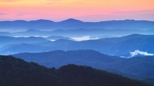 sunrise blueridgeparkway nc northcarolina thundermountainoverlook