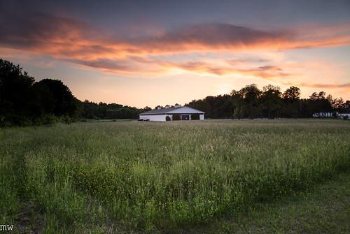 cutterfarm dracut sunset grass massachusetts newengland clouds farm