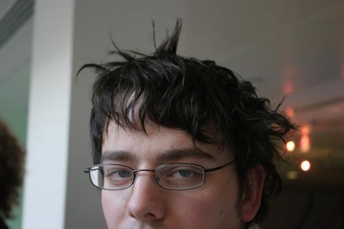 Simon has a bad hair day