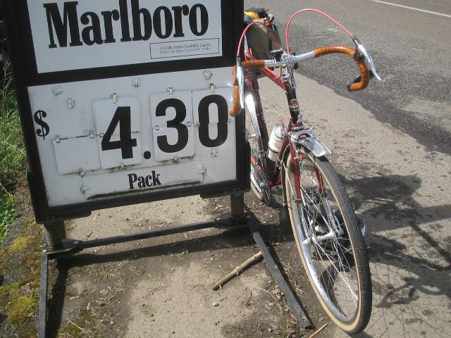 Motobecane and Marlboro Signage