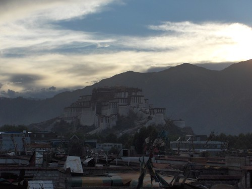 china travel sunset tibet lhasa bike2005