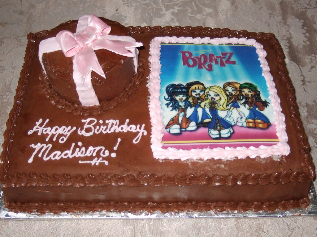 Fantastic Bratz Birthday Cake For Another Officers Little Girls 9T Flickr Personalised Birthday Cards Akebfashionlily Jamesorg