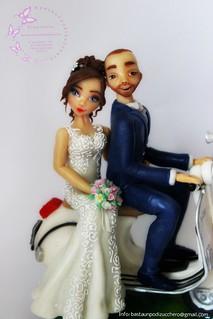 Wedding cake topper Thomas e Antonella...
