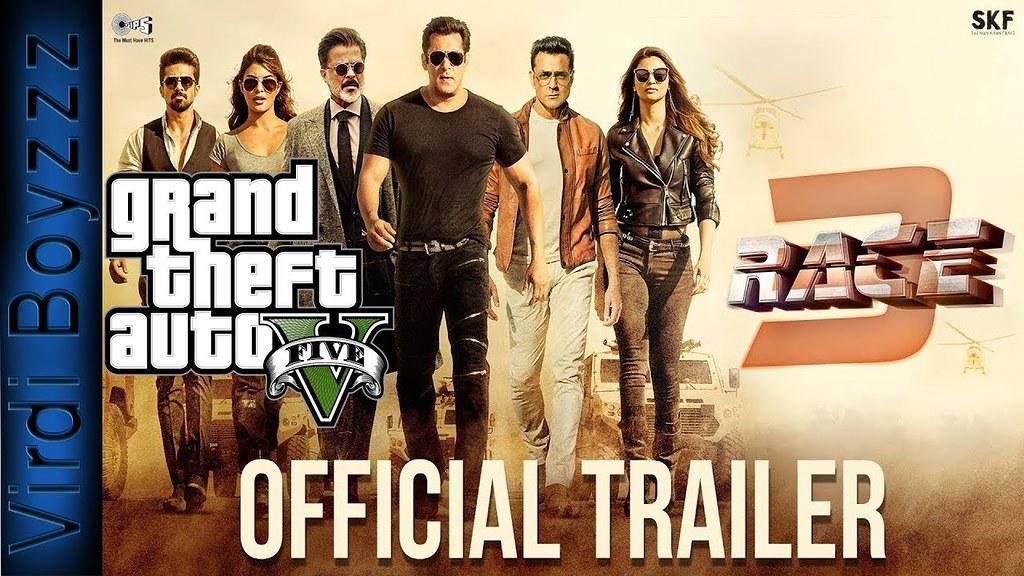Race 3 (GTA 5)Official Trailer   Salman Khan   Remo D'Souz