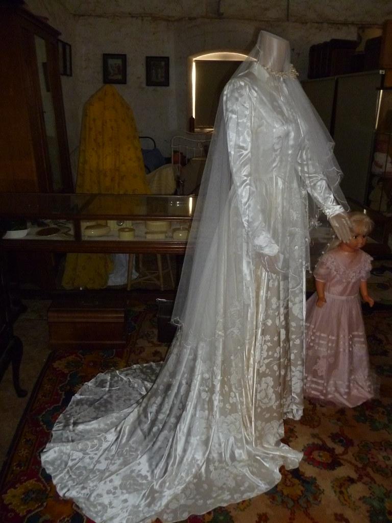 ccf99b876ec ... Maureen Tucker wedding gown 1951 (and flower girl dress)